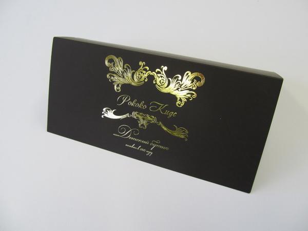 Шелкография золотом на открытках
