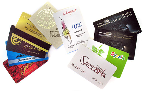 Пластиковых и дисконтных карт